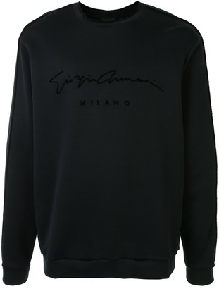 Giorgio Armani Signature Logo Print Sweatshirt