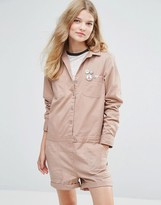 Maison Scotch Peace Button Workers Romper