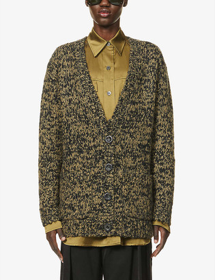 Dries Van Noten Oversized chunky-knit wool-blend cardigan