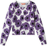 Joe Fresh Kid Girls' Print Cardigan, Purple (Size M)