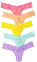 Hanky Panky Women's Signature Lace Low Rise Thong 5 Pack
