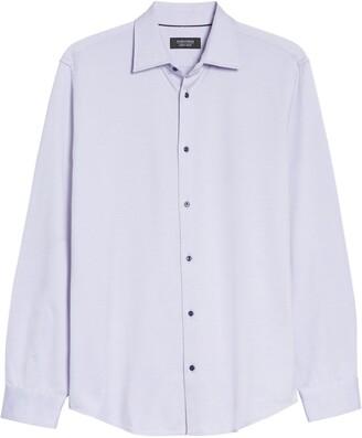 Nordstrom Trim Fit Dot Jacquard Dress Shirt