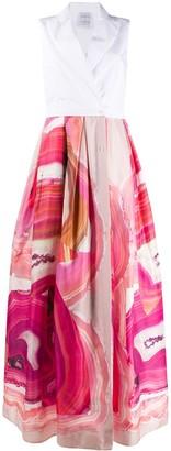 Sara Roka Geode-Print Flared Dress