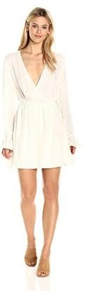 Somedays Lovin Women's Down The Down The Line Wrap Dress Cream X-Small
