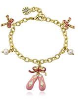 Little Miss Twin Stars Ballet Beauty 2mm Freshwater Pearl Bracelet