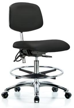 Blue Ridge Office Chair Ergonomics Upholstery Color: Black, Casters/Glides: Casters, Tilt Function: Included