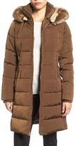 Vince Camuto Women's Down & Feather Fill Coat With Faux Fur Trim Hood