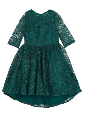 Pippa & Julie Kids' Lace Fit & Flare Dress