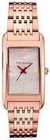 Ted Baker London Analog Pink Mother of Pearl Rose-Goldtone Bracelet Strap Watch