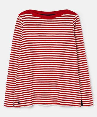 Joules Women's Tee Shirts - Cream & Red Stripe Esme Long-Sleeve Top - Women