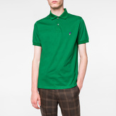 Paul Smith Men's Green Embroidered 'Mushroom' Motif Polo Shirt