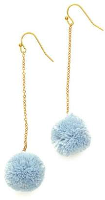 Twos Company Two's Company Hanging PomPom Earrings