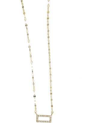 Lana Mini Diamond Rectangle Pendant Necklace