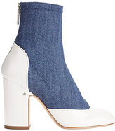 Laurence Dacade Melody Denim and Patent Leather Booties