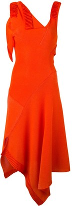 Victoria Beckham Asymmetric Flared Dress