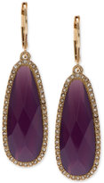 lonna & lilly Gold-Tone Large Purple Stone Drop Earrings