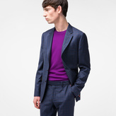 Paul Smith Men's Tailored-Fit Navy Mini-Check Wool Blazer