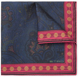 Etro Paisley-print Silk-twill Pocket Square - Midnight blue