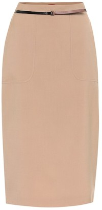 Altuzarra Casey stretch-wool high-rise skirt