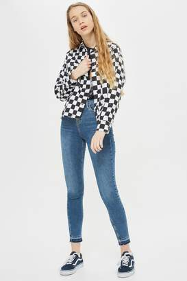 Topshop Womens Blue Let Hem Jamie Jeans - Blue