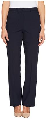 Tribal Petite Soft Twill Flatten It Straight Pants Original Fit 30 (Black) Women's Casual Pants