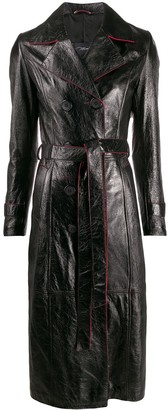 Manokhi Contrast Trim Trench Coat