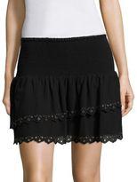 Paige Cara Grommet Ruffled Skirt