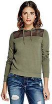 G by Guess GByGUESS Women's Sierra Mesh-Yoke Sweatshirt