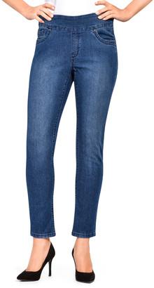 Bluberry Denim BLUBERRY DENIM Women's Denim Pants and Jeans Medium - Medium Wash Crop Jeans - Women & Plus