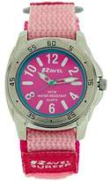 Ravel Girl's Surfer 5ATM Quartz Watch with Pink Dial Analogue Display and Pink Nylon Strap R5-13.5L