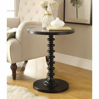 Longshore Tides Kitt Pedestal End Table Color: Black
