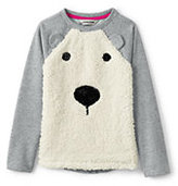 Classic Little Girls Embellished Cozy Sweatshirt-Sparkling Snowflake
