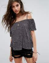 Billabong Spot Cold Shoulder Beach Top