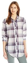 Paper + Tee Women's Collared Plaid Tunic Top