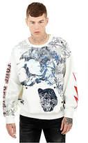 True Religion Mens Hemp Printed Pullover Sweatshirt