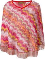 Missoni zigzag knit poncho