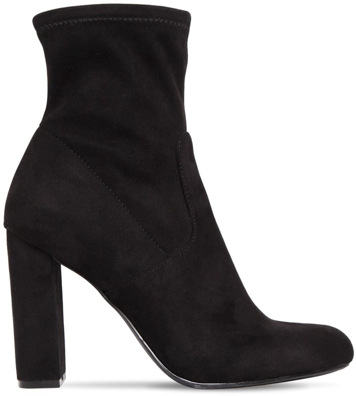 5d16f521709 100MM EDITT STRETCH FAUX SUEDE BOOTS