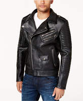 Reason Men's Faux-Leather Bomber Jacket