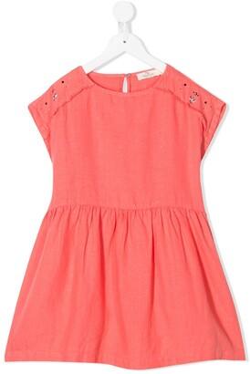 Andorine Stud-Embellished Linen Dress