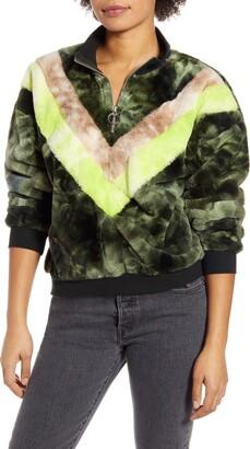 Only Nahla Furry Half Zip Pullover Jacket
