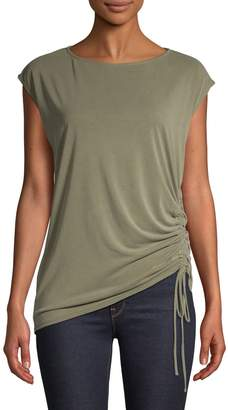 Lord & Taylor Petite Side-Tie Cap-Sleeve Top