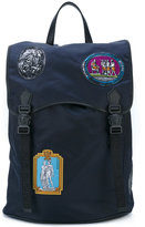 Versace Patches backpack - men - Leather/Nylon - One Size
