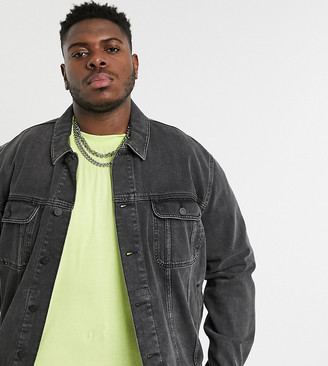 Asos Design DESIGN Plus oversized denim jacket in washed black
