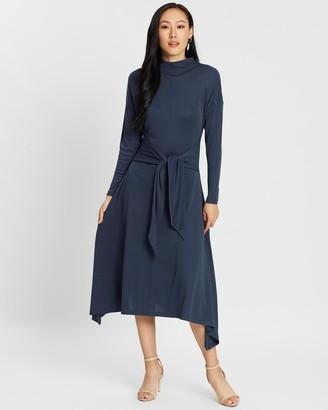 SABA Rachel Long Sleeve Midi Dress