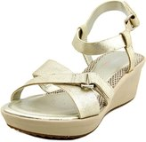 Easy Spirit Casara Women US 8 Gold Wedge Sandal