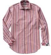 Thomas Dean Big & Tall Stripe Long-Sleeve Woven Shirt