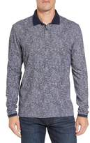 Stone Rose Men's Slim Fit Paisley Long Sleeve Polo