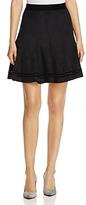 T Tahari Carlisle Faux-Suede Skirt