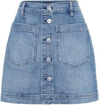 3x1 Rose high-rise denim miniskirt