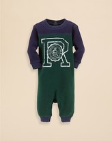 Ralph Lauren Infant Boys' Waffle Knit Graphic Coverall - Sizes 3-9 Months